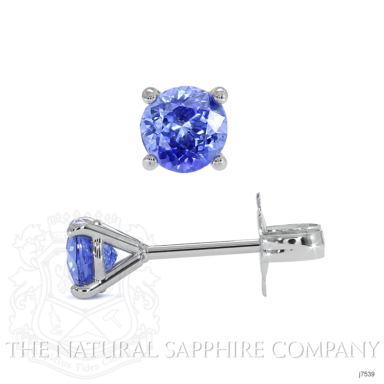 0.90ct Blue Sapphire Earring Image 2