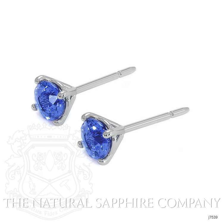 0.90ct Blue Sapphire Earring Image 3
