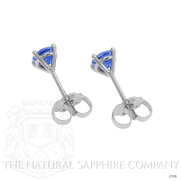 0.90ct Blue Sapphire Earring Image 4