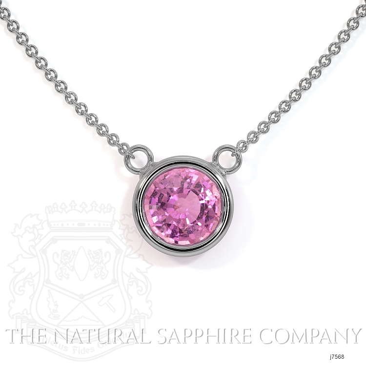 0.38ct Pink Sapphire Necklace Image