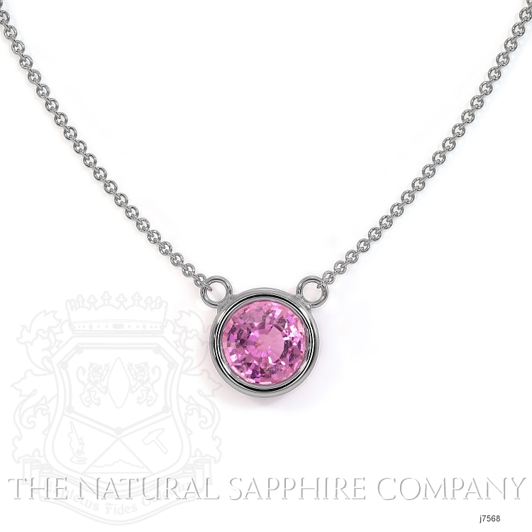 0.38ct Pink Sapphire Necklace Image 2