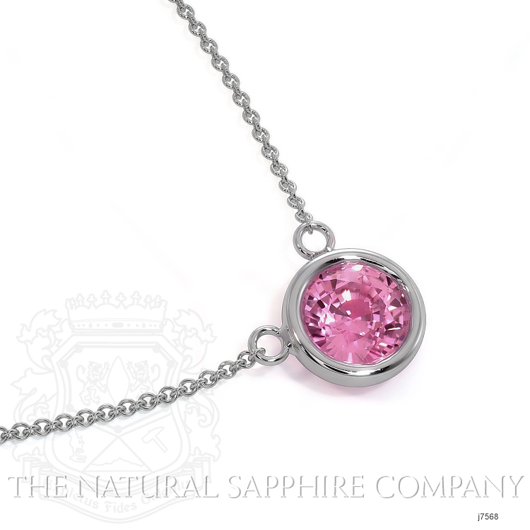 0.38ct Pink Sapphire Necklace Image 3