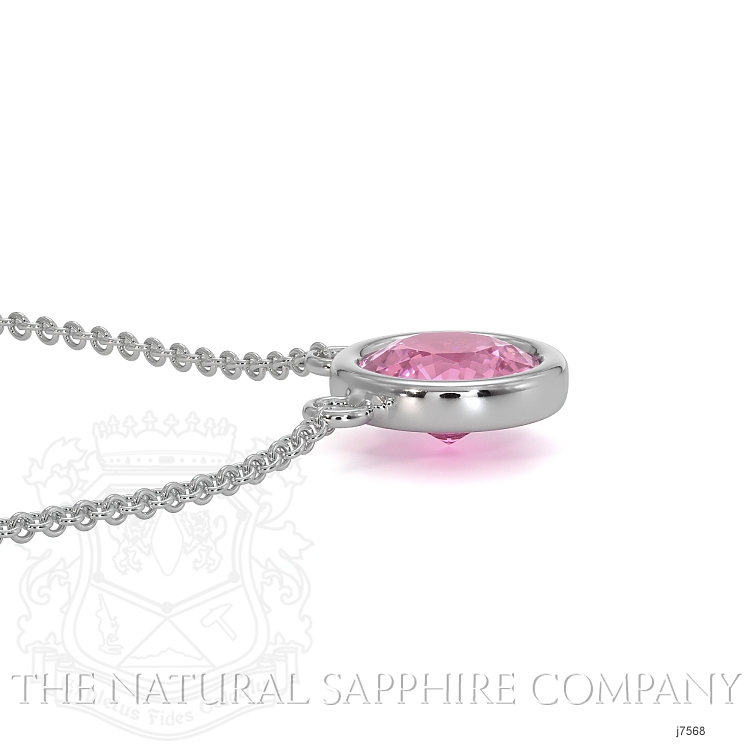 0.38ct Pink Sapphire Necklace Image 4