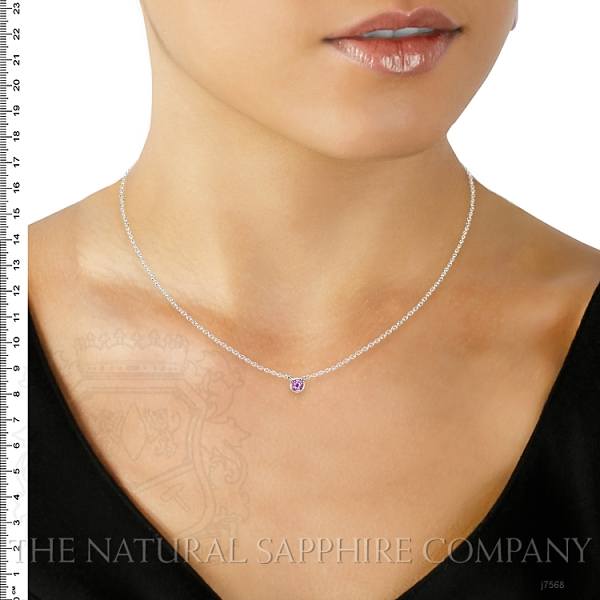 0.38ct Pink Sapphire Necklace Image 5