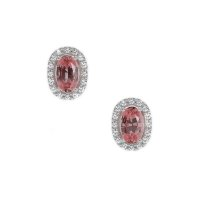 0.65ct Pink Sapphire Earring - J7577