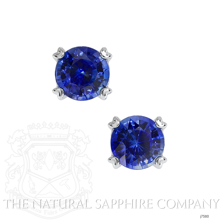 0.95ct Blue Sapphire Earring Image