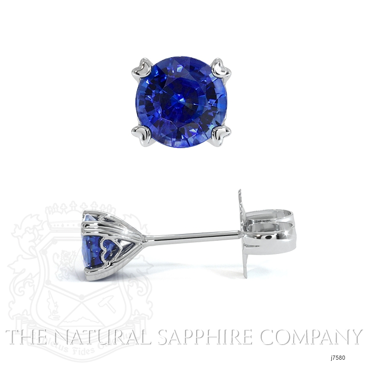 0.95ct Blue Sapphire Earring Image 2