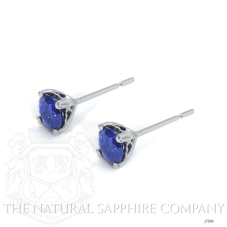 0.93ct Blue Sapphire Earring Image 3