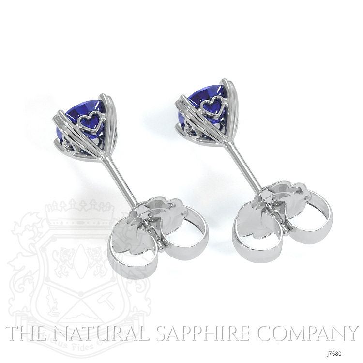 0.95ct Blue Sapphire Earring Image 4