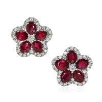 2.02ct Ruby Earring - J7589