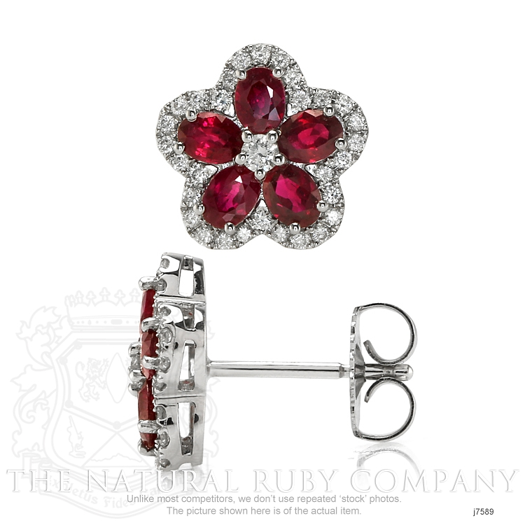 2.02ct Ruby Earring Image 2