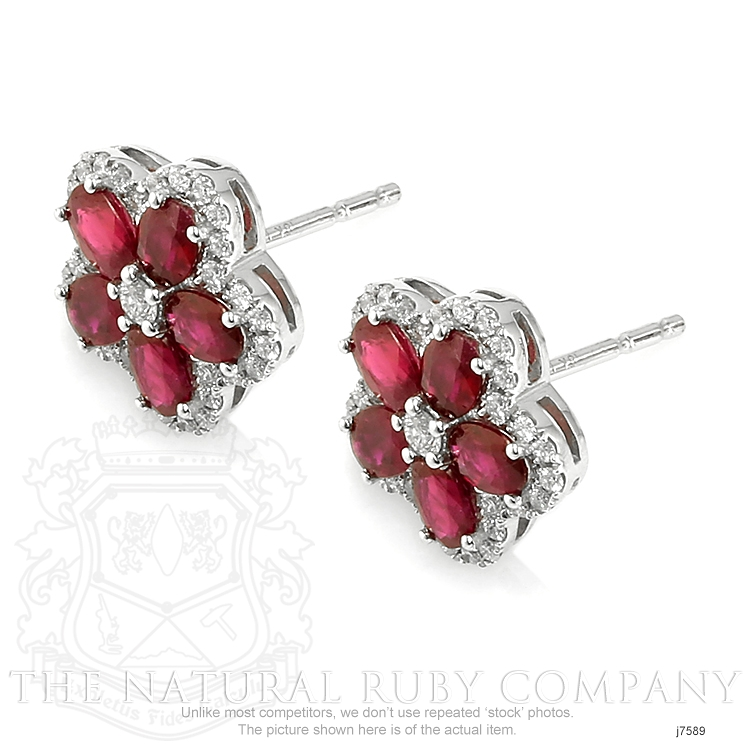 2.02ct Ruby Earring Image 3