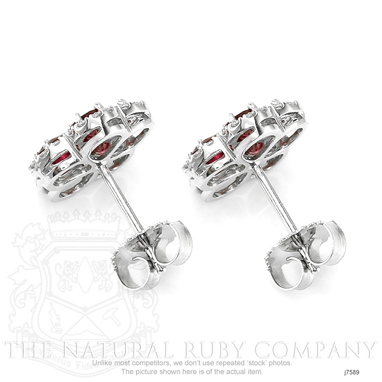2.02ct Ruby Earring Image 4