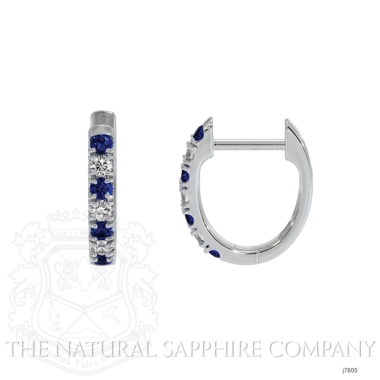 0.20ct Blue Sapphire Earring Image 2