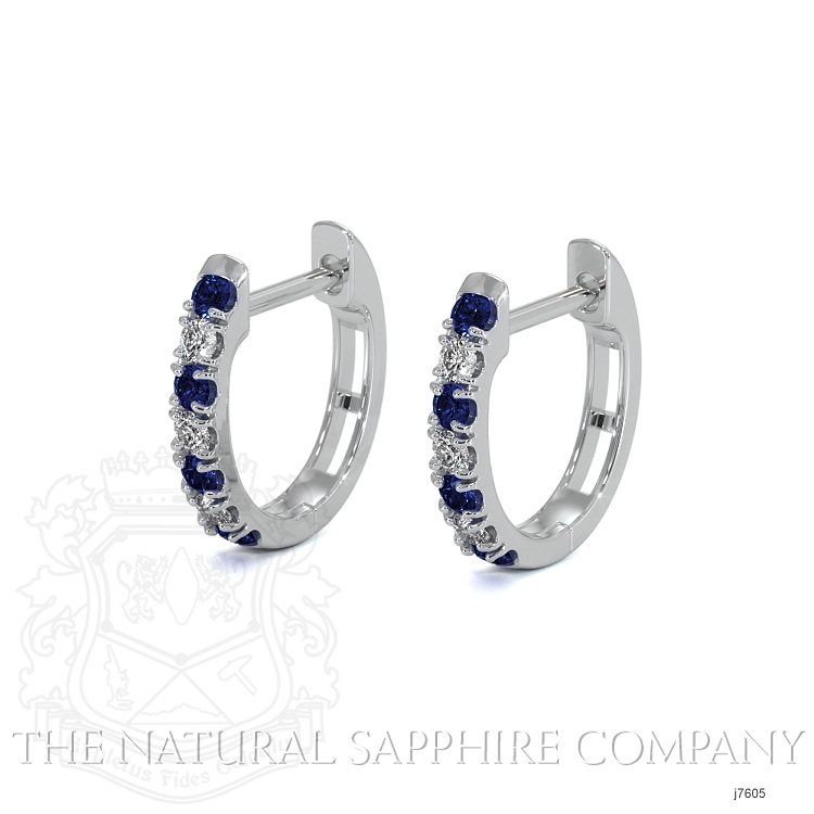0.20ct Blue Sapphire Earring Image 3