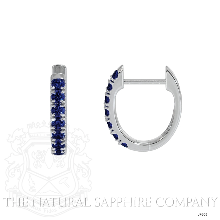 0.38ct Blue Sapphire Earring Image 2