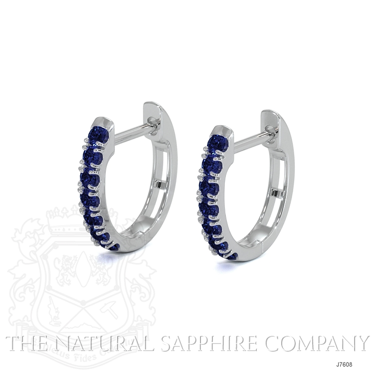 0.38ct Blue Sapphire Earring Image 3