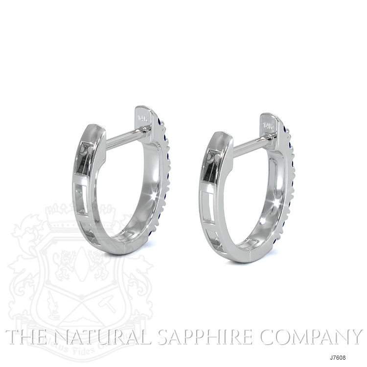 0.38ct Blue Sapphire Earring Image 4