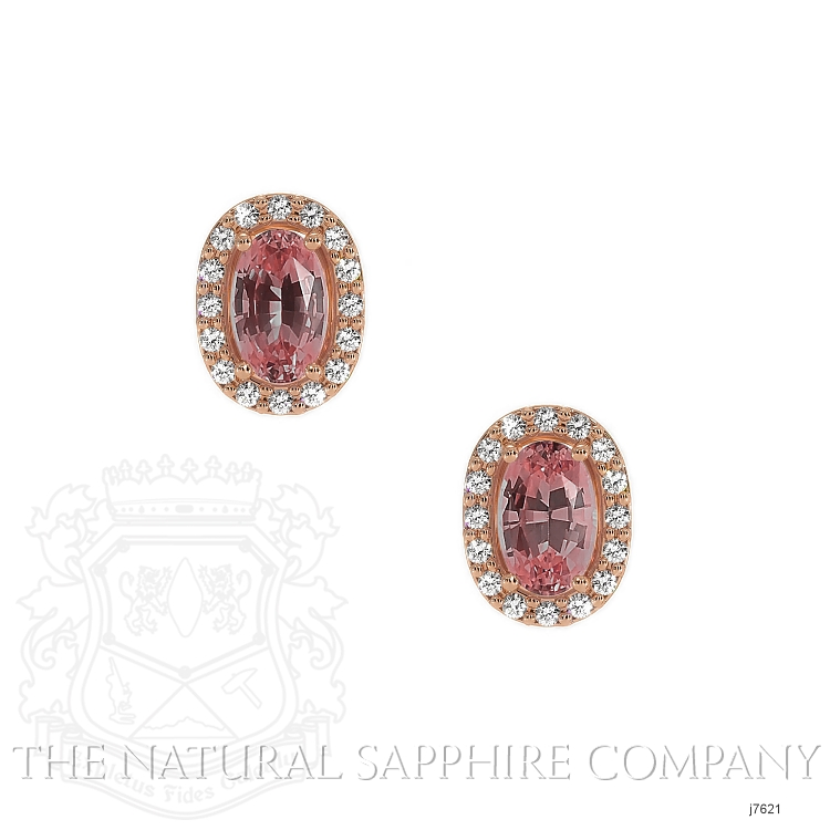 0.65ct Pink Sapphire Earring Image