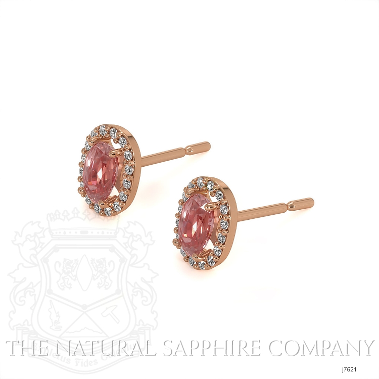 0.65ct Pink Sapphire Earring Image 3