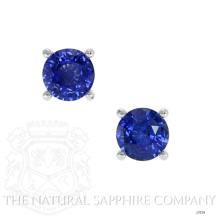 1.50ct Blue Sapphire Earring Image