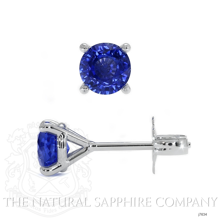 1.50ct Blue Sapphire Earring Image 2
