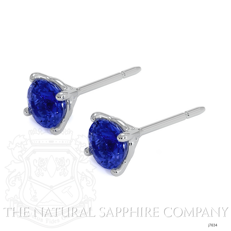 1.50ct Blue Sapphire Earring Image 3
