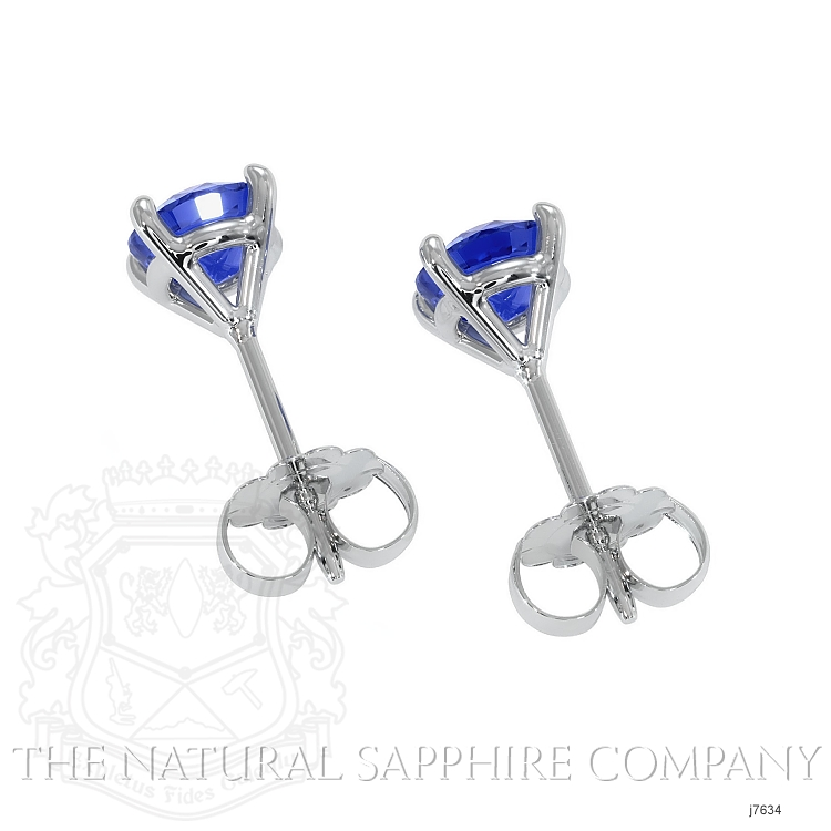 1.50ct Blue Sapphire Earring Image 4
