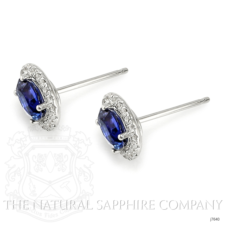 1.00ct Blue Sapphire Earring Image 3