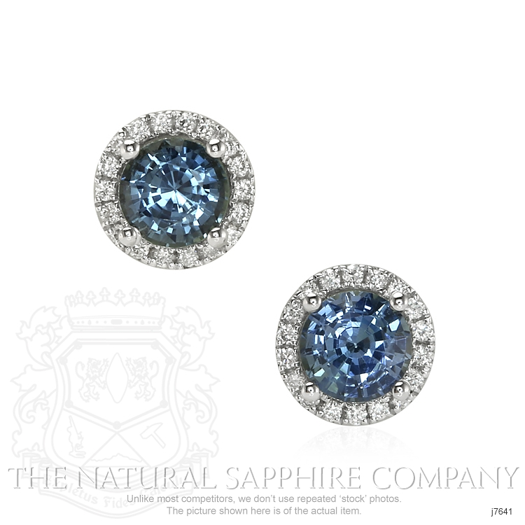 1.38ct Bluish Green Sapphire Earring Image