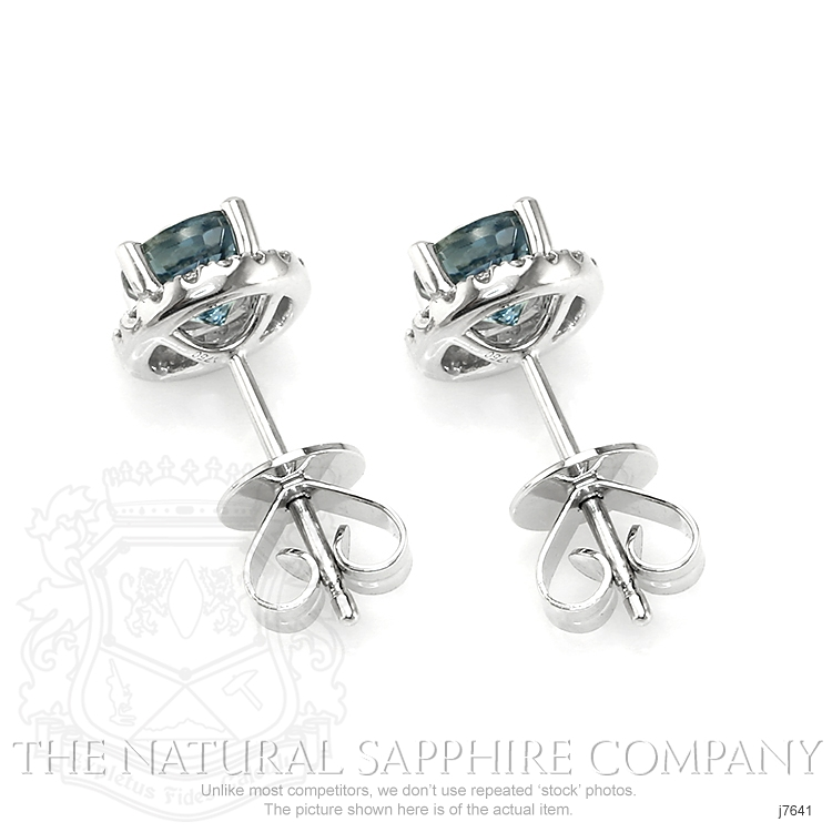 1.38ct Bluish Green Sapphire Earring Image 4