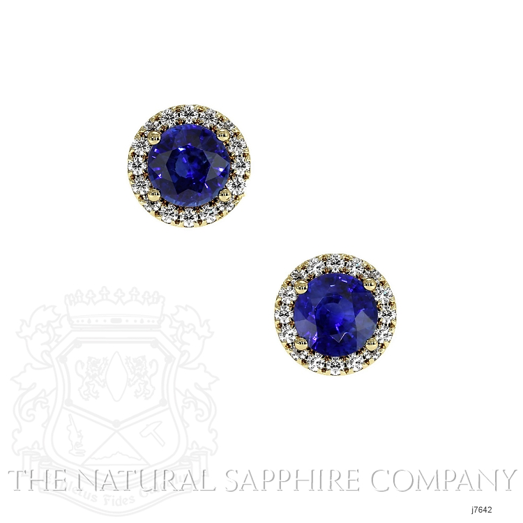0.70ct Blue Sapphire Earring Image