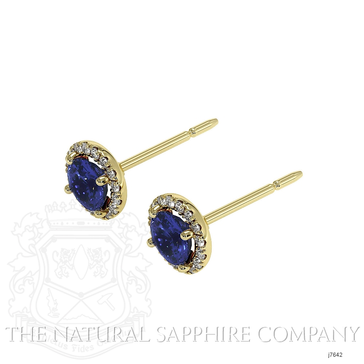 0.70ct Blue Sapphire Earring Image 3