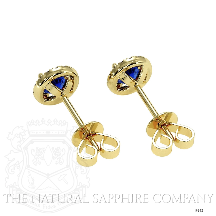 0.70ct Blue Sapphire Earring Image 4
