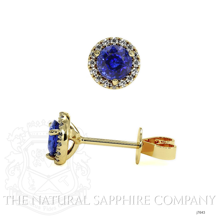 0.70ct Blue Sapphire Earring Image 2
