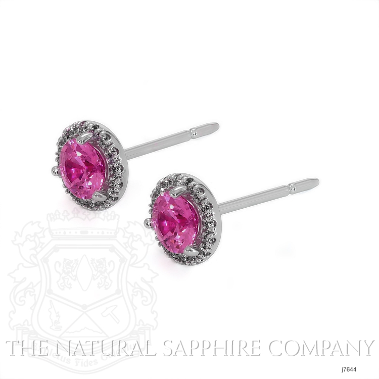 0.60ct Pink Sapphire Earring Image 3