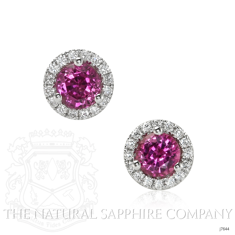 0.60ct Pink Sapphire Earring Image