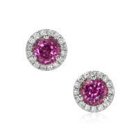 0.60ct Pink Sapphire Earring - J7644