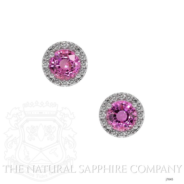 0.69ct Pink Sapphire Earring Image