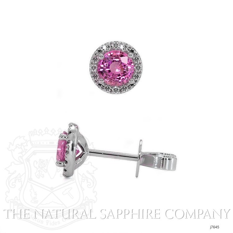 0.69ct Pink Sapphire Earring Image 2
