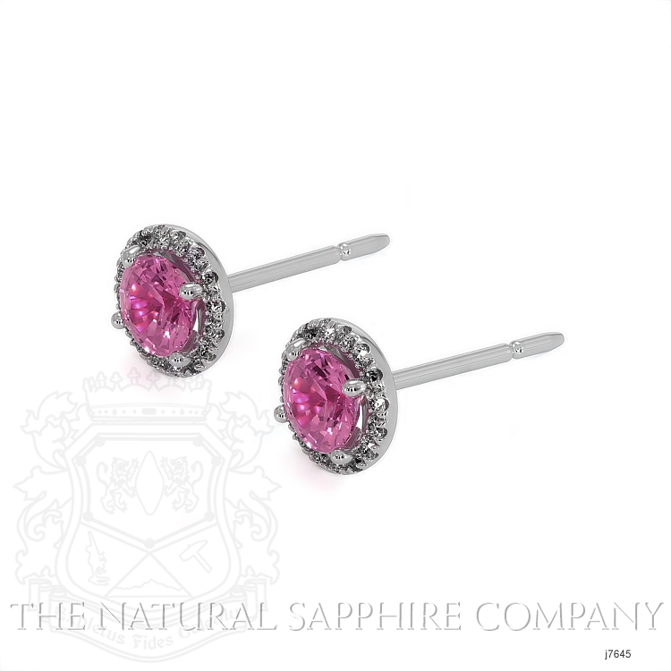 0.69ct Pink Sapphire Earring Image 3