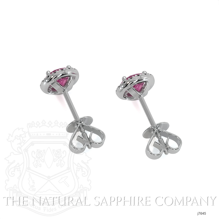 0.69ct Pink Sapphire Earring Image 4