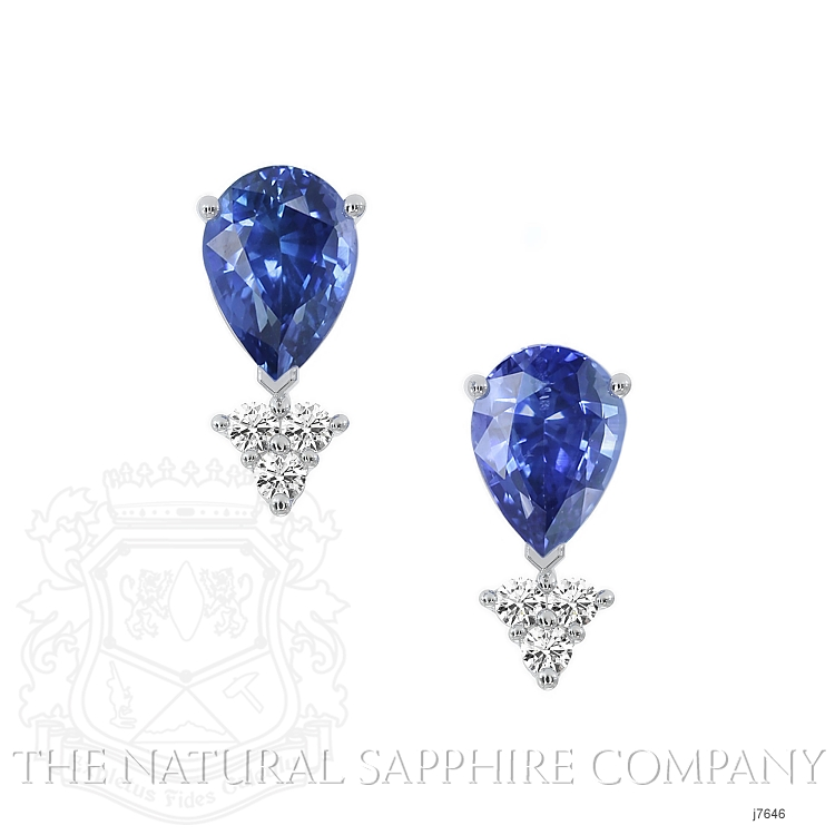 1.48ct Blue Sapphire Earring Image