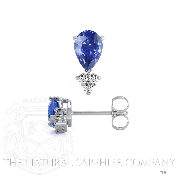 1.48ct Blue Sapphire Earring Image 2