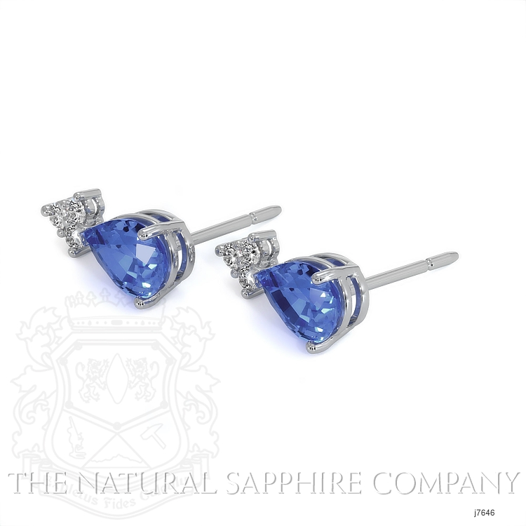 1.48ct Blue Sapphire Earring Image 3