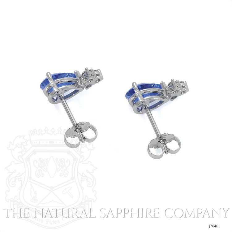 1.48ct Blue Sapphire Earring Image 4