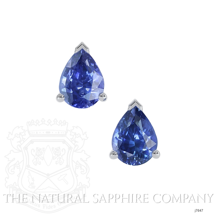 1.43ct Blue Sapphire Earring Image