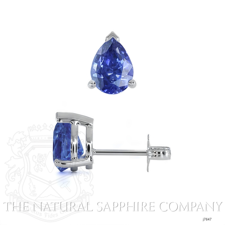 1.43ct Blue Sapphire Earring Image 2