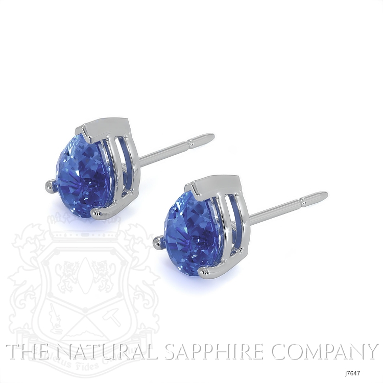 1.43ct Blue Sapphire Earring Image 3