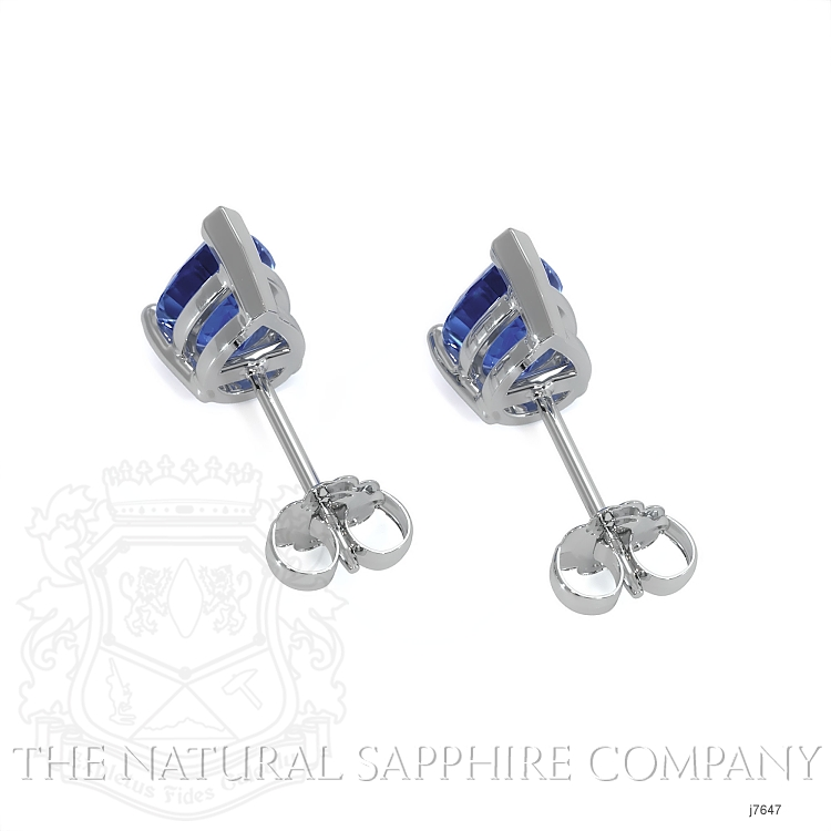 1.43ct Blue Sapphire Earring Image 4